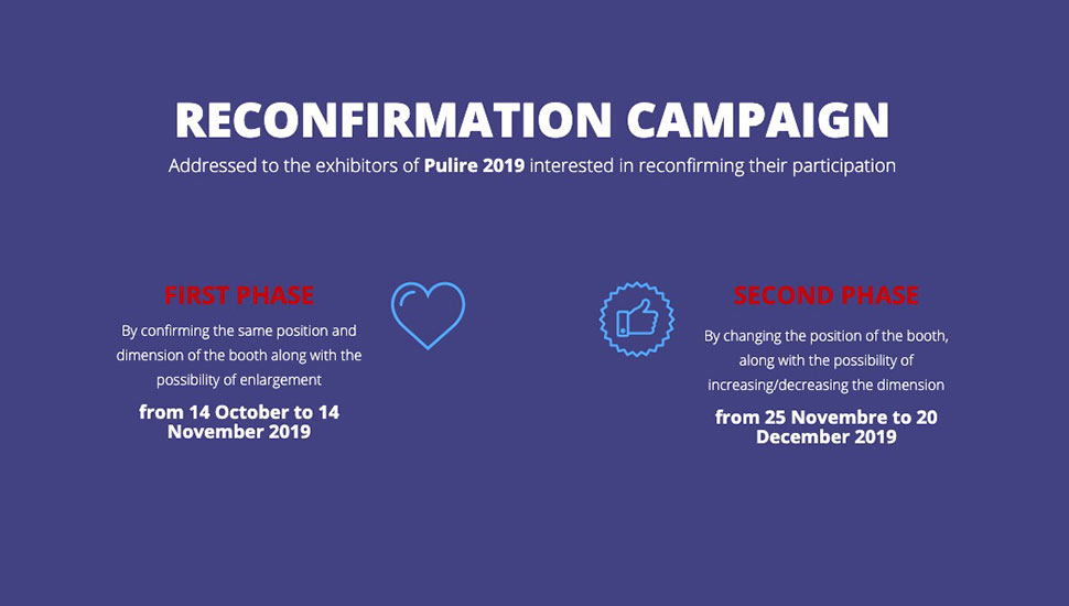 ISSA PULIRE 2021 Reconfirmation campaign at the start